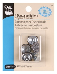 DRITZ D9 4 Dungaree Buttons Copper