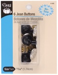 DRITZ D4-65 6 Jean Buttons Nickel