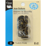 DRITZ D4-38 6 Jean Buttons Antique