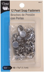 DRITZ D25-R Pearl Snap Fasteners White