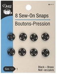 DRITZ D80- Sew-On Snaps Black