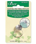 CLOVER CN611 Adjustable Ring Thimble with Plate