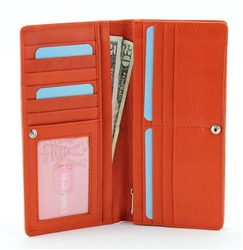 Ladies Clutch Wallet Style : 1903 ORANGE