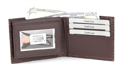 Embossed Lizard Bifold Wallet with Flap-Up ID Window, Style: 511ZL