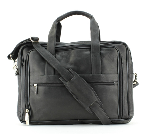Zipper Compartment Soft Sided Briefcase Style 8110