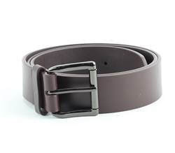 Vegan Leather Classic Roller Buckle Belt Style #BL130 Black