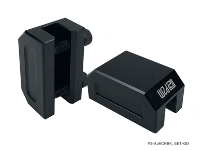 P2M FRAME RAIL JACK ADAPTERS : BLACK (2PCS SET)
