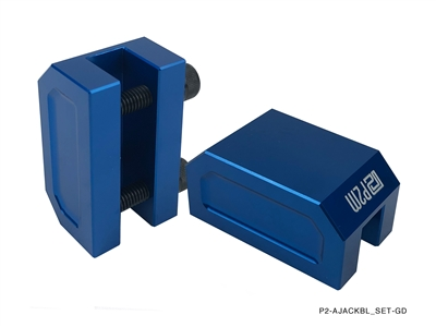 P2M FRAME RAIL JACK ADAPTERS : BLUE (2PCS SET)