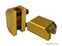 P2M FRAME RAIL JACK ADAPTERS : GOLD (2PCS SET)