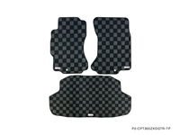 P2M NISSAN Z32 300ZX 1990-96 RACE FLOOR MATS + TRUNK MAT (3PCS SET) : DARK GREY