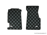 P2M HONDA CIVIC DEL SOL RACE FLOOR MATS : DARK GREY (YEAR 1992-94 ONLY)