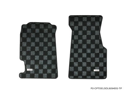 P2M HONDA CIVIC DEL SOL 1992-98 RACE FLOOR MATS : DARK GREY