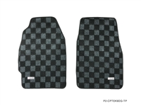 P2M HONDA CIVIC EK9 (COUPE/HATCH) RACE FLOOR MATS : DARK GREY (FRONTS ONLY)