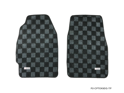 P2M HONDA CIVIC EK9 (HATCH/SEDAN) RACE FLOOR MATS : DARK GREY