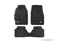 P2M HONDA CIVIC EK9 (HATCH/SEDAN) RACE FLOOR MATS : DARK GREY (FRONT/REAR)