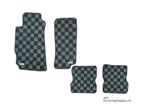 P2M MAZDA RX-8 RACE FLOOR MATS (FRONT/REAR) : DARK GREY