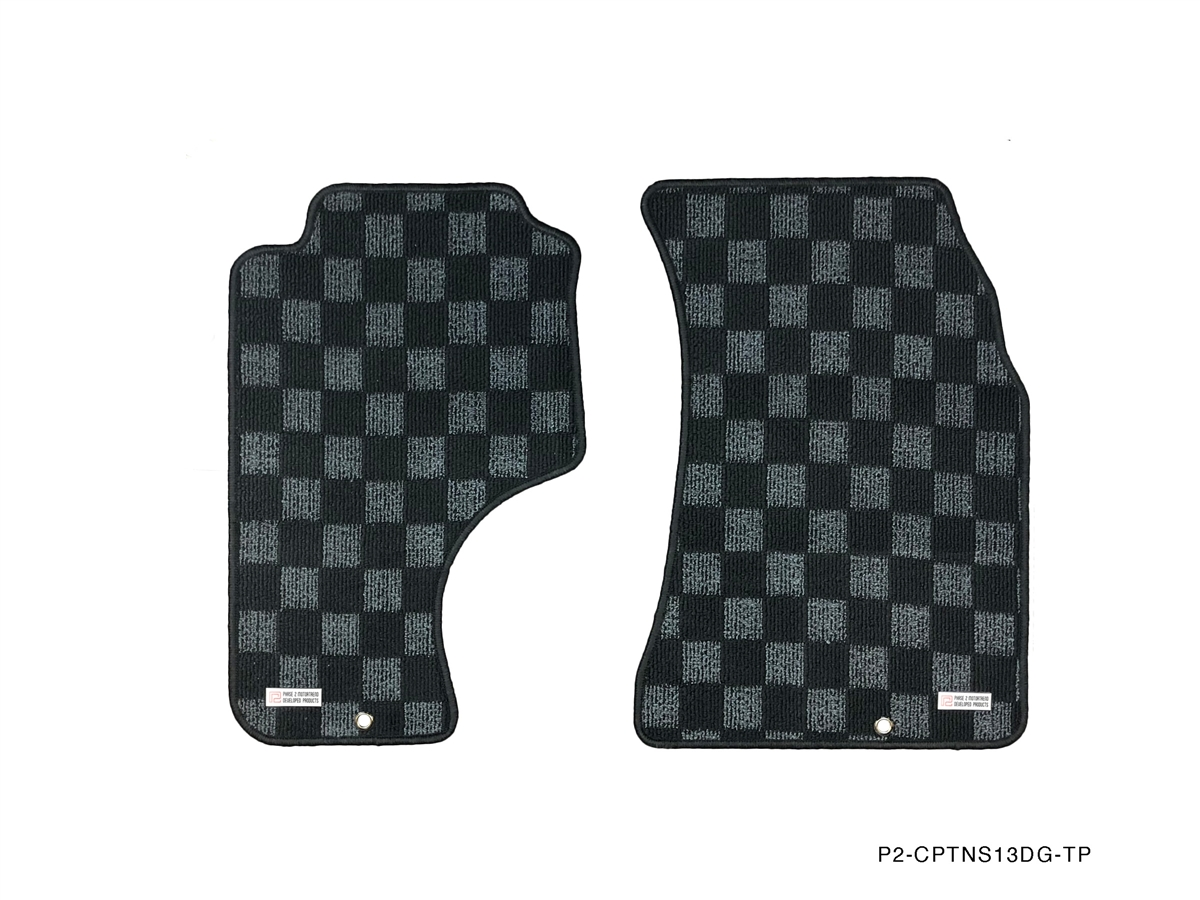 P2m Nissan S13 1989 94 240sx Race Floor Mats Dark Grey