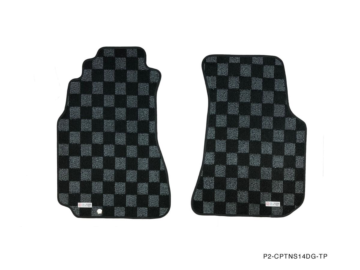 P2m Nissan S14 1995 98 240sx Race Floor Mats Dark Grey