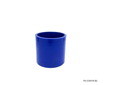 "P2M STRAIGHT HOSE : 3.50"" ID HOSE COUPLER - BLUE"