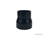 "P2M REDUCER HOSE : 2.25-2.75"" ID - BLACK"