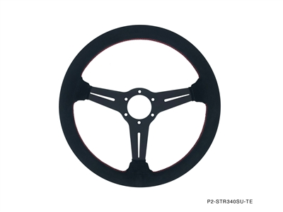 P2M COMPETITION STEERING WHEEL : 340MM STANDARD SUEDE