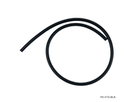 P2M VACUUM HOSE :  4MM ID, 2MM THICKNESS BLACK - PRICED PER FOOT