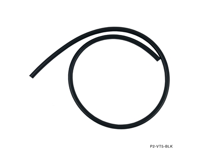 "P2M VACUUM HOSE :  4MM ID (1/6""), 2MM THICKNESS BLACK - PRICED PER FOOT"