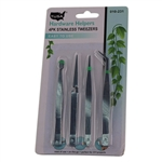 Tusa 010-231 Hardware Helpers 4 Pack Stainless Tweezers