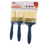 "Tusa 020-109 Paint Helpers 3 Piece Plastic Handle Brush Set, 1"", 2"", 3"""