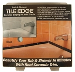 Tile Edge, 02107, Blue, Bath & Shower Ceramic Edging Kit With Caulk