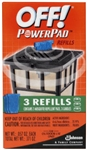 S C Johnson Wax, 02884, Off! 3 Pack, Powerpad Lamp Lantern Area Repellent Refills