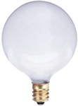 True Value Westinghouse, 03754-54, 40GCW, 2 Pack, 40W, 120V, White, Vanity Globe, Light Bulb, Candelabra Base