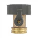 Gilmour 03V Solid Brass Garden Water Hose Connector With Shut-Off Valve