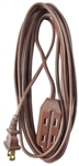 Ho Wah Kintron Master Electrician, 09404ME, 15' 16/2 SPT-2, Brown, Polarized Cube Tap Extension Cord, Household, Vinyl
