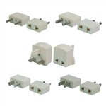CONECT IT, 10-165-5, FOREIGN TRAVEL Adapter Plug Set for Foreign Outlets, Fits Both Flat & Round Pins