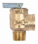 "Apollo Valve 10-407-05 Safety Relief Valve, 30 psi Set Pressure, 3/4"" NPT Male x 3/4"" NPT Female"