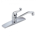 Delta, 100, Classic Single Handle Kitchen Deck Sink Faucet, Chrome