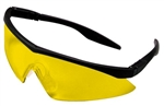 MSA Safety Works 10021280 Straight Temple Safety Glasses, Amber Lens