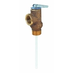 "Watts Brass & Tubular, 100XL4-150, 3/4"" Automatic Temperature And Pressure Relief Valve, 4"" 150 PSI"