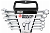 "Master Mechanic, 5 Piece, Matte Finish SAE Combination Wrench Set, Includes 5 SAE Combination Wrenches In Sizes 3/8"", 7/16"", 1/2"", 9/16"", 5/8"" & A Vinyl Pouch."