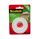 "Scotch 110 Mounting Tape - 0.5"" Width x 75"" Length - Acrylic - Double-sided - 1 Roll - White"