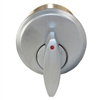 "Guard, 111S, Satin Chrome, 1"" Mortise Cylinder Solid Brass, Thumb Turn Cylinder With Red Dot Indicator"