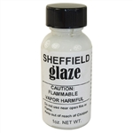 Sheffield, 1125, 1 OZ Bottle, White Glaze ( Gloss White ), Porcelain Touch Up Paint, For Porcelain Surfaces