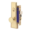 "Marks Metro 114A/3-X Left Hand Brass Mortise Entry, Thru Bolted Lockset with 1-1/4"" x 8"" Wide Face Plate Lock Set"