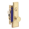 "Marks Metro 114A/3-X Right Hand Brass Mortise Entry, Thru Bolted Lockset with 1-1/4"" x 8"" Wide Face Plate Lock Set"