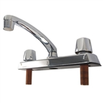 BayPointe 116904 Basic Chrome Finish 2 Handle Kitchen Faucet Metal Housing