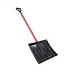"My Helper 1199HB 18"" x 14"" Poly Blade Snow Shovel 48"" Handle"