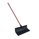 "My Helper 1219HB 21"" Dip Rib Molded Poly Blade Snow Shovel Pusher 48"" Handle"