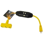 PCC, 12402, 2', 12/3 SJTW, The shock eliminator, Portable Ground Fault Circuit Interrupter Extension Cord