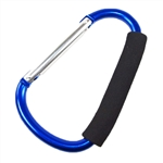 "SE 1297A Extra Large 6"" Snap Hook Carabiner Clip Hook Carry Handle with Soft Grip Accessory Assorted Colors"